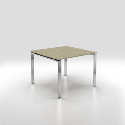 Tavolo riunione DORIA 4 posti gamba cromata