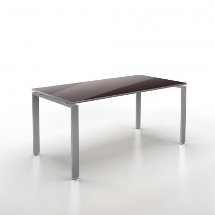 Geradliniger Schreibtisch Doria Glas