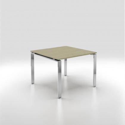 Konferenztisch Doria 4 Plätze mit verchromtem Gestell