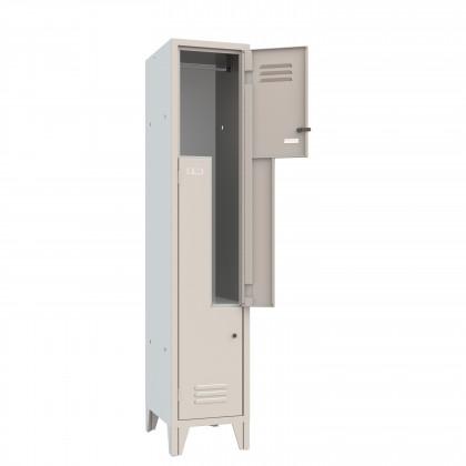 Kleiderspind platzsparend mit Z-Türen 2 Plätze B 36 H 180 Art. 062