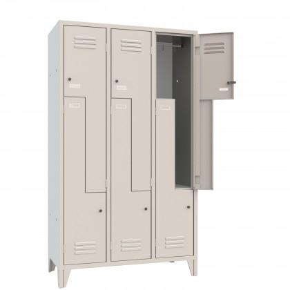Kleiderspind platzsparend mit Z-Türen 6 Plätze B 102 H 180 Art. 066