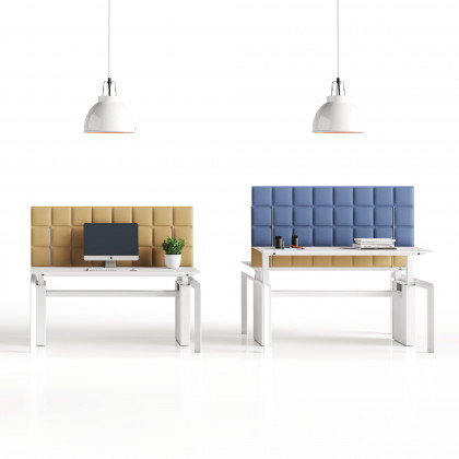 Doppelseitige schallabsorbierende tischplatte mod. Tetrix Desk H40