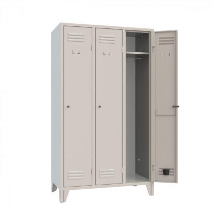 Kleiderspind 3 Plätze B 102 H 180 Art. 053 Kleiderspind Monoblock für drei Personen B 102 T 50 H 180 aus Stahlblech hergestellt