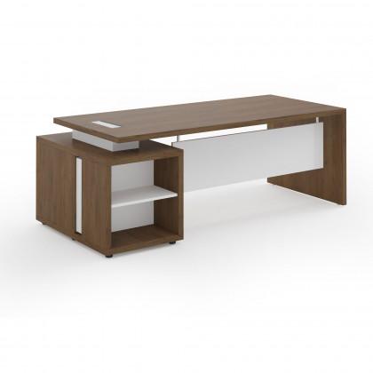 Schreibtischmit mit Sichtblende und Container Brera