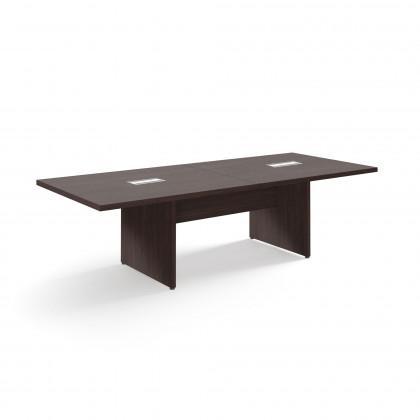 Modularer Konferenztisch mit paneelierten Tischbeinen Brera