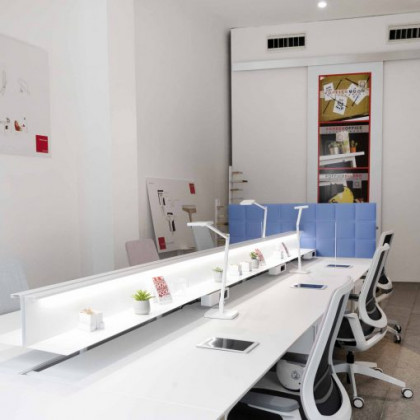 Zweiseitiges Schallabsorbierendes Paneel für Schreibtisch Mod. Tetrix Desk Free H. 60