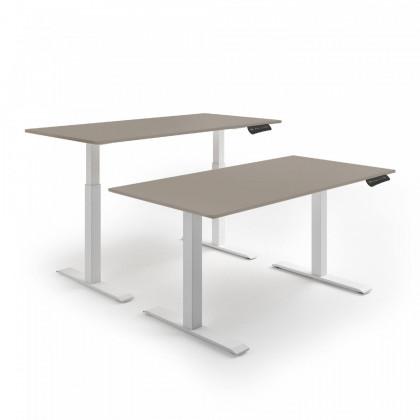 Schreibtisch mit elektromotorischer Höhenverstellung mit Tischplatten Doria