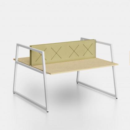 Bench Fusion mit Trennwand und elastischen Bändern X