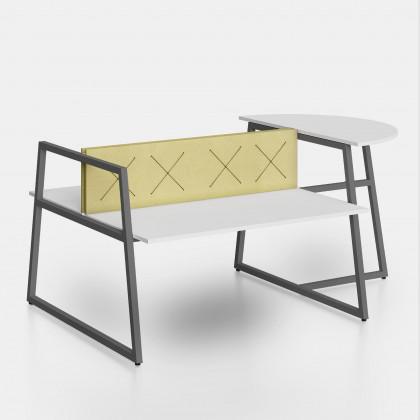 Bench Fusion mit Anbautisch und Trennwand mit elastischen Bändern X