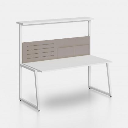Schreibtisch Fusion Regal und Trennwand mit Ablagefächern und elastischen Bändern