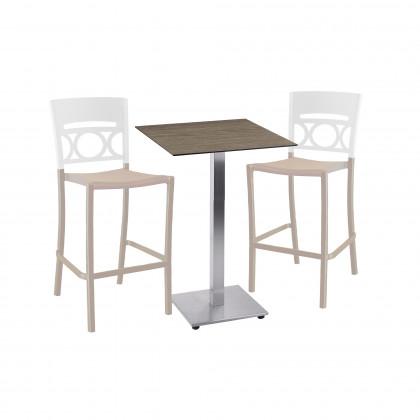Kompletter Tisch H 109 zusammengesetzt aus dem Gestell Tetra und der Platte Sweden Touch