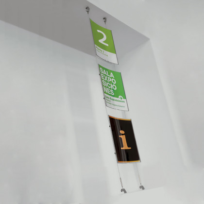 Gebogener Wandaufsteller mit SeilenMod. KOALA 06