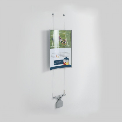 Gebogener Wandaufsteller mit Seilen Mod. KOALA 10