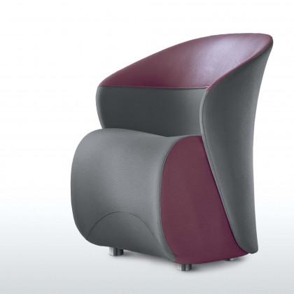 Sessel für Wartebereich Koccolazweifarbig