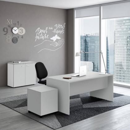 Komplettbüro New Rossana mit Container, Regal und Stuhl.