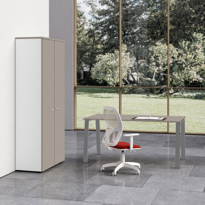 Bureau complet Delta avec armoire haute et siège