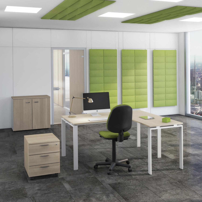 Ufficio completo doria con armadio basso seduta e for Ufficio completo