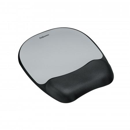 Mousepad con poggiapolsi Memory Foam Argento art. 9175801