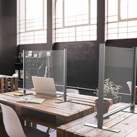 Barriere di protezione in vetro/alluminio.