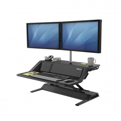 Sit-Stand Lotus DX™ Workstation nero art. 8081001