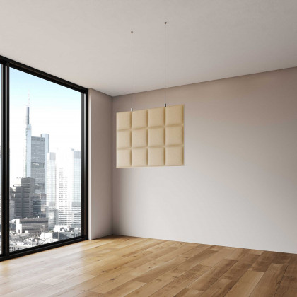Pannello fonoassorbente bifacciale a soffitto mod. Horizontal Baffle H. 60