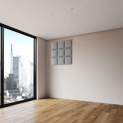Pannello fonoassorbente bifacciale a soffitto mod. Vertical Baffle H. 60