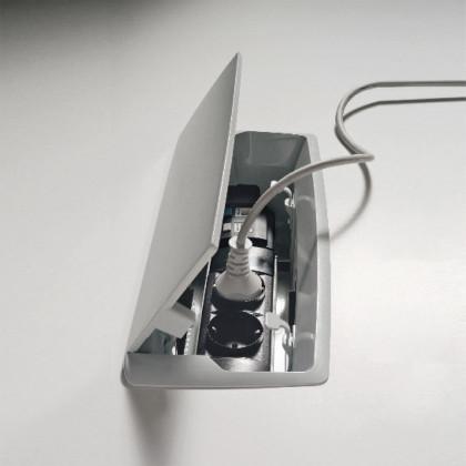 Top access contenitore di prese da inserire sul piano di lavoro art. BASKET