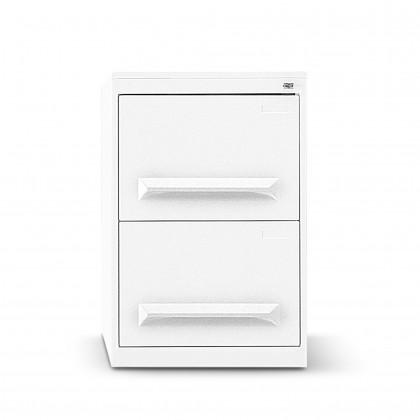 Classificatore metallico a 2 cassetti con maniglia stampata