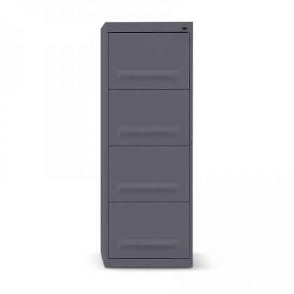 Classificatore metallico a 4 cassetti con maniglia stampata