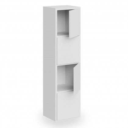 Libreria Doria Cube 1 elemento con ante e schiena