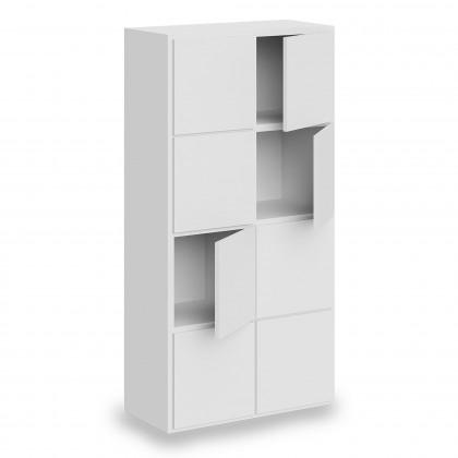 Libreria Doria Cube 2 elementi con ante e schiena
