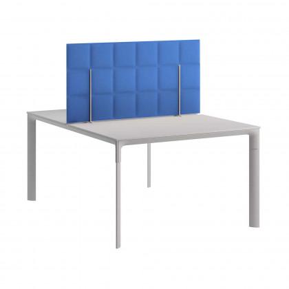 Pannello fonoassorbente bifacciale da postazione multipla mod. Tetrix Desk Bench H. 60