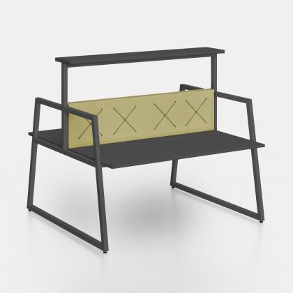 Bench Fusion con screen elastici X e mensola rialzata