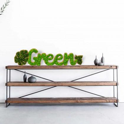 Scritta vegetale - Green
