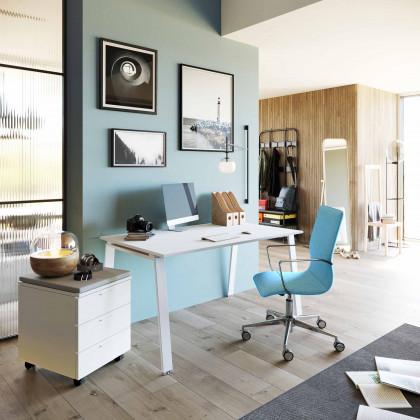 Ufficio completo Delta con seduta e cassettiera