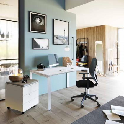 Ufficio completo Doria con seduta e cassettiera