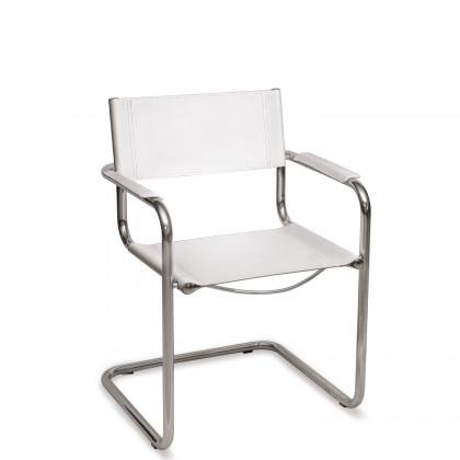 Sedia a slitta con braccioli Alba 2 New