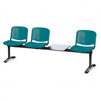 Panca su trave tre posti più tavolo portariviste Isoscele