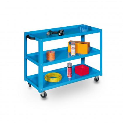 Carrello componibile a 3 piani con ruote