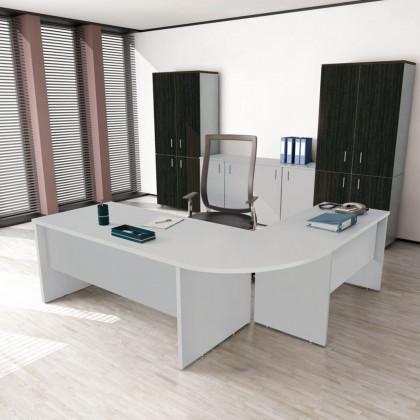 Ufficio completo New Rossana con cassettiera, libreria e seduta.