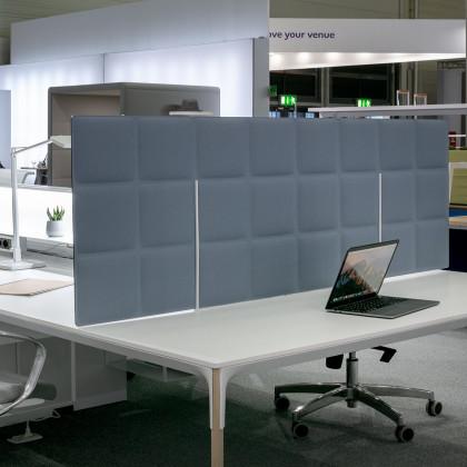 Pannello fonoassorbente bifacciale per tavoli riunione mod. Tetrix Meeting table Desk Free  H. 60
