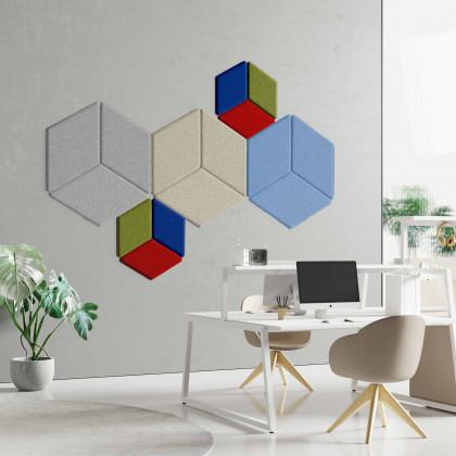 Pannello fonoassorbente monofacciale a parete mod. Rombix Shapes