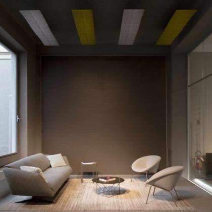 Pannello fonoassorbente bifacciale a soffitto mod. Cloud H.40