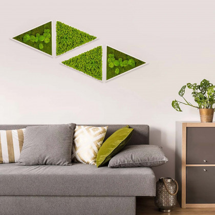 Triangoli in verde stabilizzato