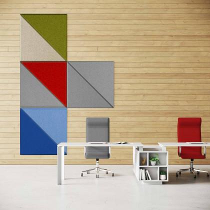 Pannello fonoassorbente monofacciale a parete mod. Trix Shapes