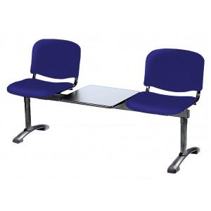 Panca su trave due posti più tavolo portariviste Carla