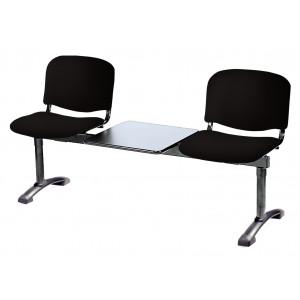 Panca su trave due posti più tavolo portariviste Carla acrilico