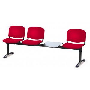 Panca su trave tre posti più tavolo portariviste Carla